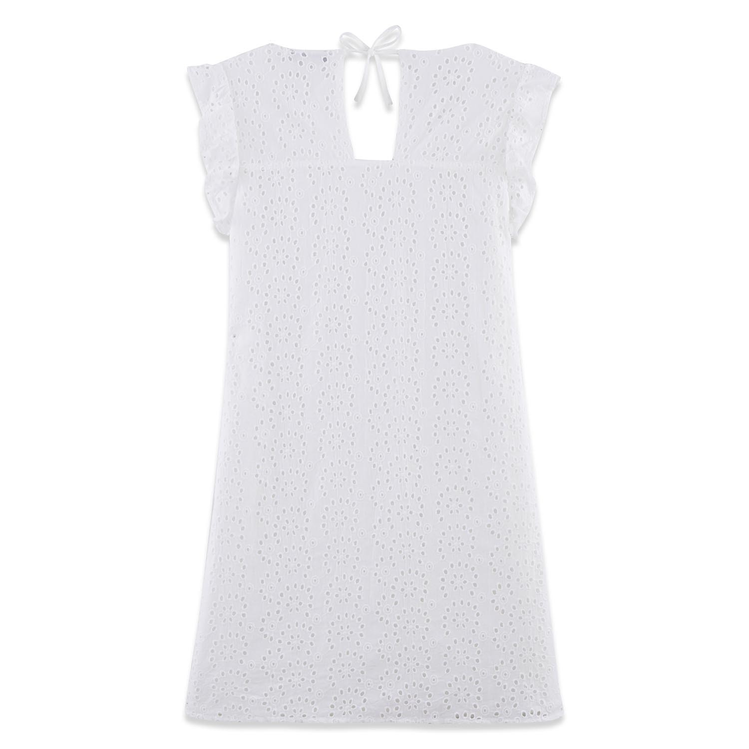 Buy Robe Femme 100 Coton Broderie Blanche Hollyrob Tbs